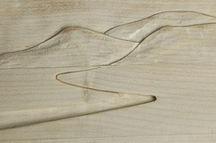 Detail: Desk relief carving