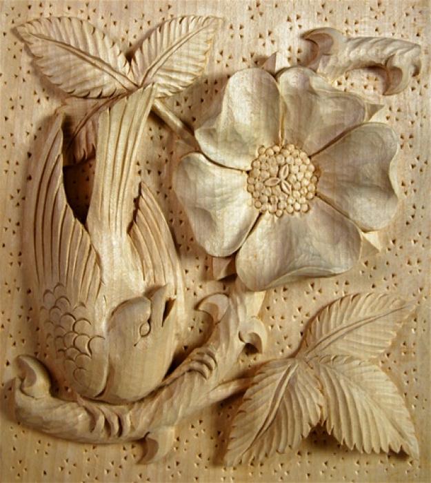 Arts & Crafts Panel Limewood 180mm high