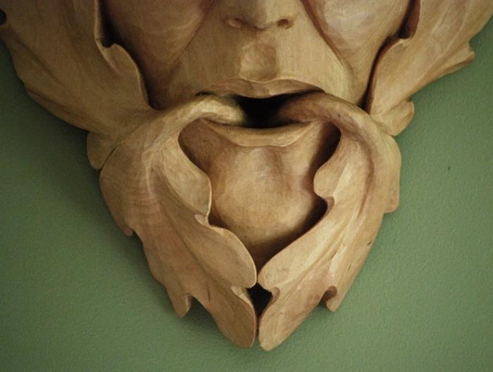 Rockport Green Man detail