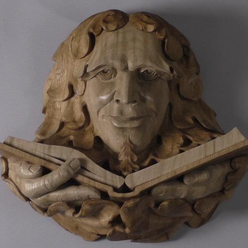 Kimble Green Man:  Oak H17in.