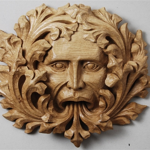 Lincoln Cathedral Green Man Oak 12in