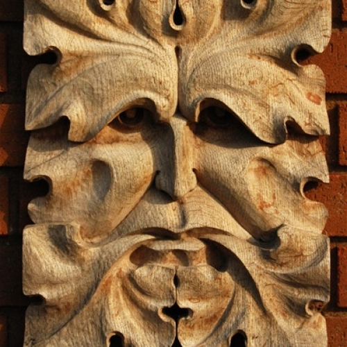 Green Man of Ewyas Oak H 15in
