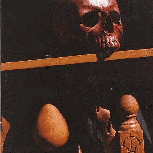 Lectern detail. Oak