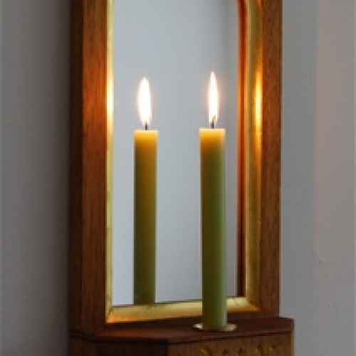 Gothic Tracery Mirror Sconce H25in