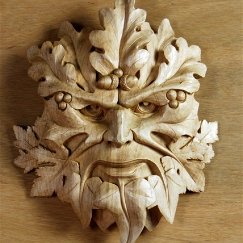 Gatehampton Green Man Sycamore 14in
